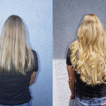 Haarverlängerung bei Haarmodekarl